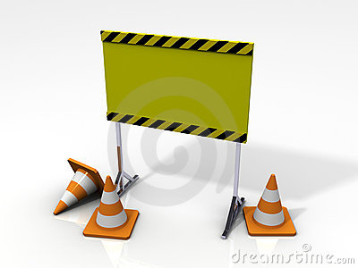 3D Safety Board with Safety Cones