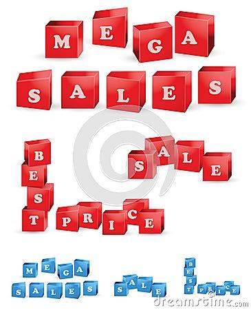 3D Sale icons