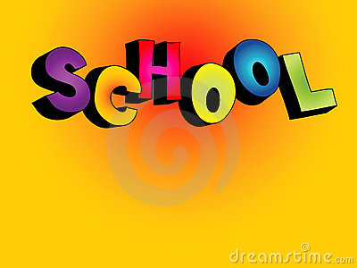 3D school text background