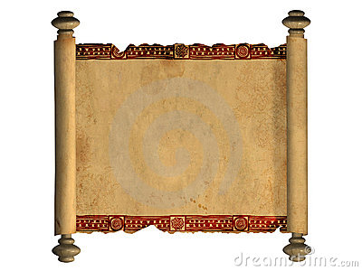 3d scroll of old parchment