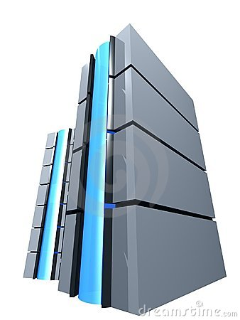 3d Server Tower Royalty Free Stock Images - Image: 63079