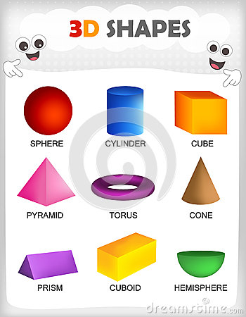 Free 3D Shapes Royalty Free Stock Photo - 50723435