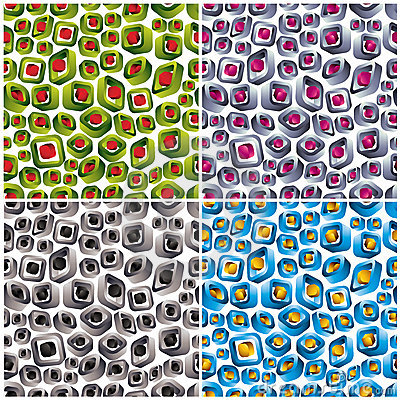 3d shapes seamless patterns.