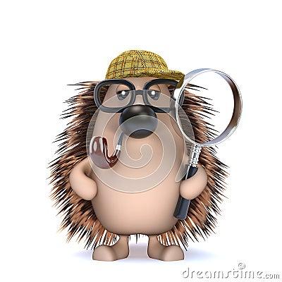 Free 3d Sherlock Hedgehog Royalty Free Stock Image - 41990966