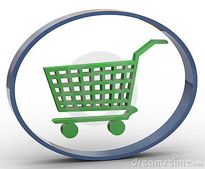 3d shopping cart icon