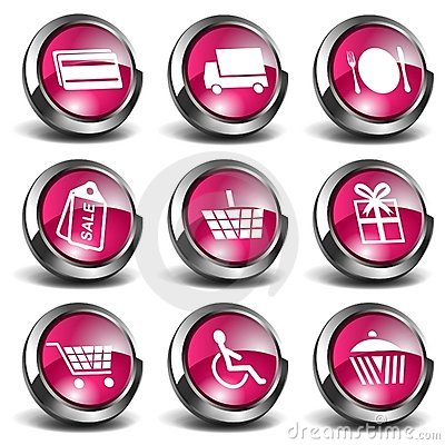 3D Shopping Icons