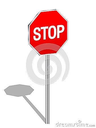 3d sign stop