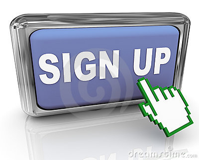 3d sign up button and pointer