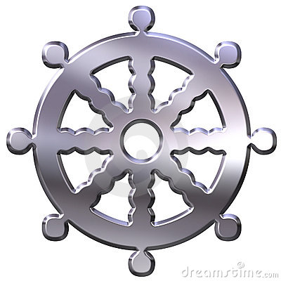 3D Silver Buddhism Symbol