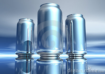 3D Silver Drink Can Collection