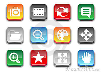 3d simple photo icons
