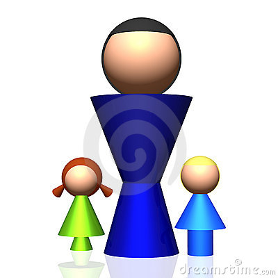 3D Single-parent Family Icon