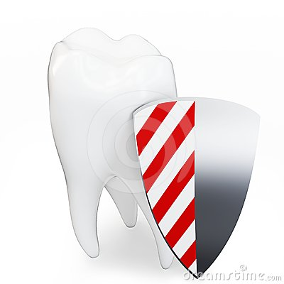 3d single tooth with shield