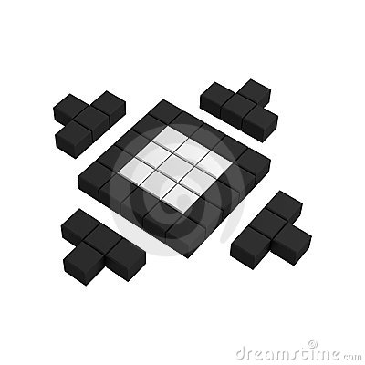 3d site map pixel icon
