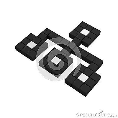 3d site map pixel icon