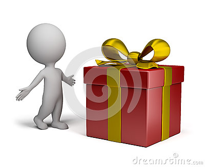 3d small people - big gift