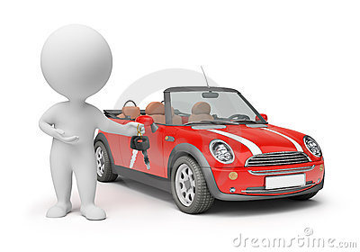 3d small people - car keys