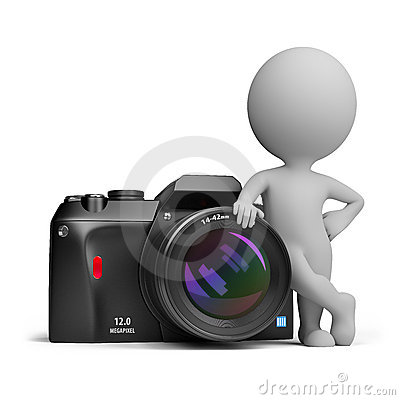 Free 3d Small People - Digital Camera Royalty Free Stock Image - 20723666