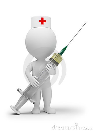 3d small people - doctor with syringe Editorial Photography