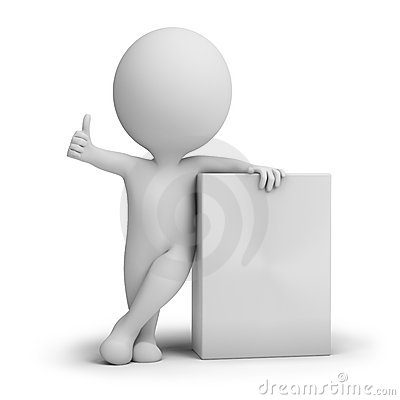 Free 3d Small People - Empty Product Box Stock Photo - 15139700