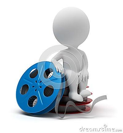 3d small people - film reel