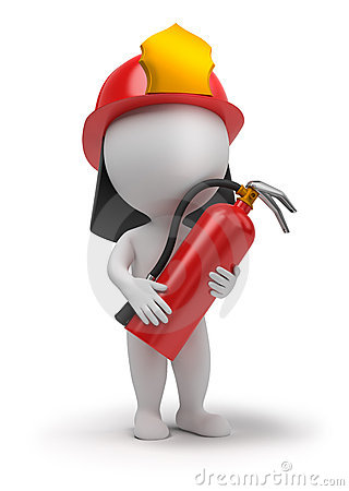 Free 3d Small People - Fireman Stock Photo - 16468470