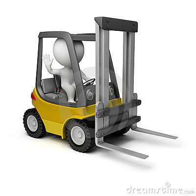 Free 3d Small People - Forklift Stock Photography - 19188932