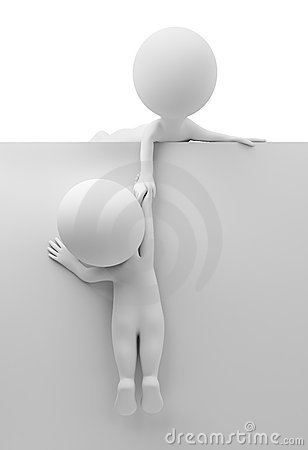Free 3d Small People - Help To The Friend Stock Photo - 17965890