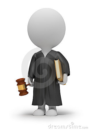 Free 3d Small People - Judge Stock Images - 17589674
