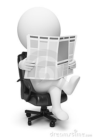 3d small people - newspaper