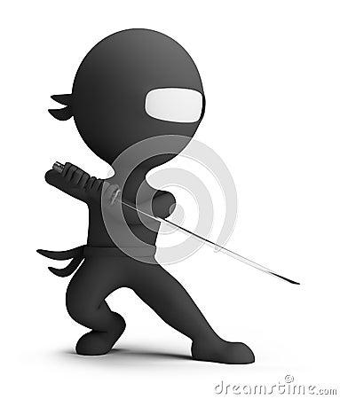 3d small people - ninja