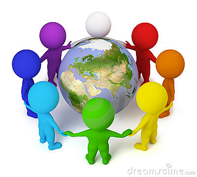 Free 3d Small People - Peace On The Earth Stock Photo - 13937300
