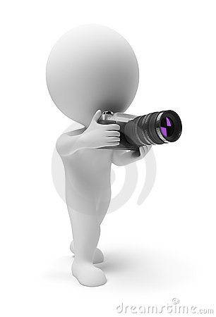 3d Small People - Photographer Royalty Free Stock Images - Image: 12800519