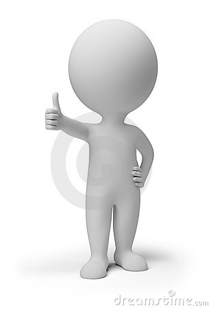 Free 3d Small People - Positive Pose Royalty Free Stock Image - 19676506