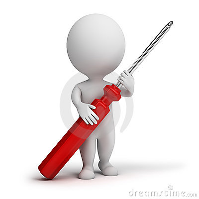 Free 3d Small People - Screw-driver Stock Photos - 15139753