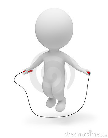 Free 3d Small People - Skipping Rope Royalty Free Stock Photography - 15592847