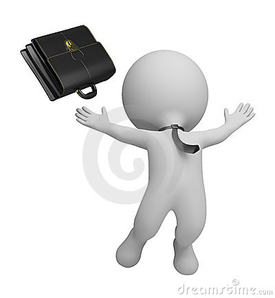 Free 3d Small People - Successful Businessman Stock Photography - 21693672