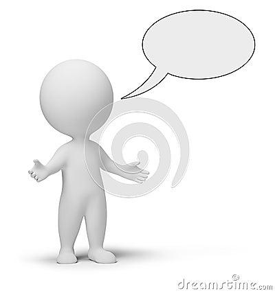3d small people - talk