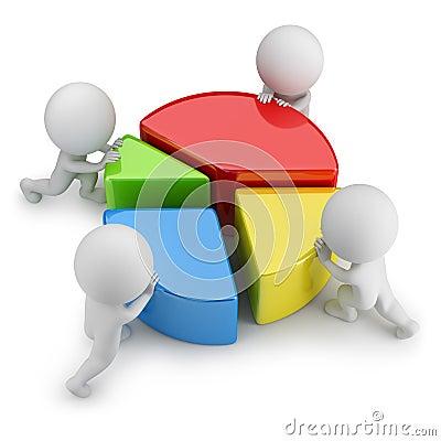 Free 3d Small People - Teamwork Statistics Stock Image - 47213401