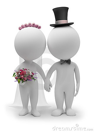 Free 3d Small People - Wedding Royalty Free Stock Photos - 16145068