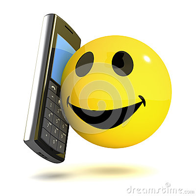 Free 3d Smiley Mobile Royalty Free Stock Images - 38945389