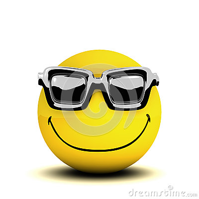 Free 3d Smiley Sunglasses Stock Images - 44790084