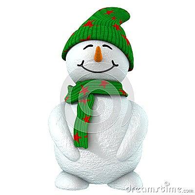 Free 3d Snow Child Stock Image - 1523661