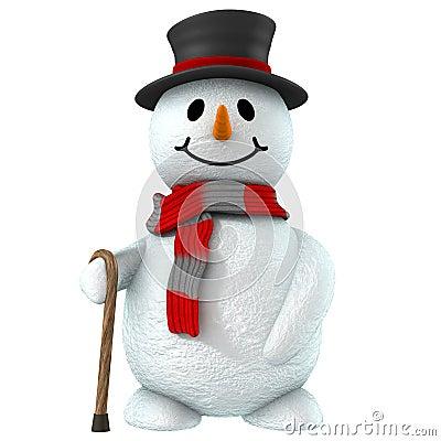 Free 3d Snow Man Stock Image - 1523671