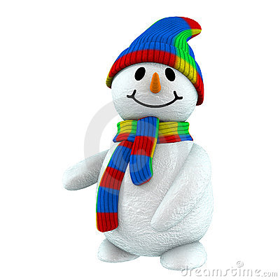 Free 3d Snowman Point At Royalty Free Stock Photography - 1643567
