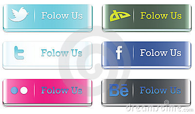3D Social media buttons Editorial Photo