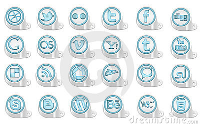 3D Social Media Icons Stock Images - Image: 20425024