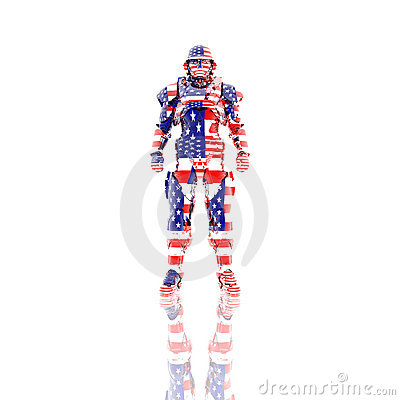 3d soldier in a gas mask isolated on a white