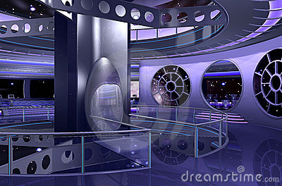 Space Ship Design of a Modern Apartment Interior Design Decoration