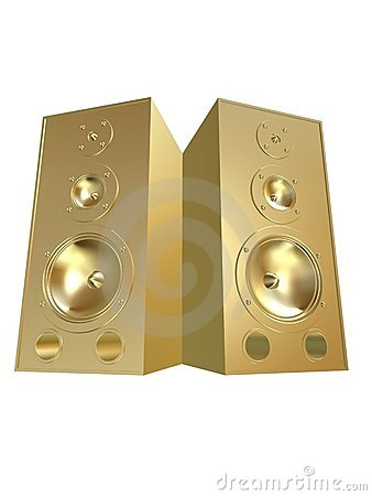 Free 3d Speakers Royalty Free Stock Images - 2036479